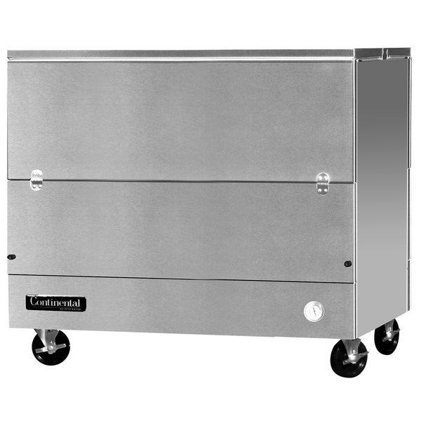 """Continental Refrigerator MC4-SS-DCW 49"""" Stainless Steel 2 Sided Cold Wall Milk Cooler"""