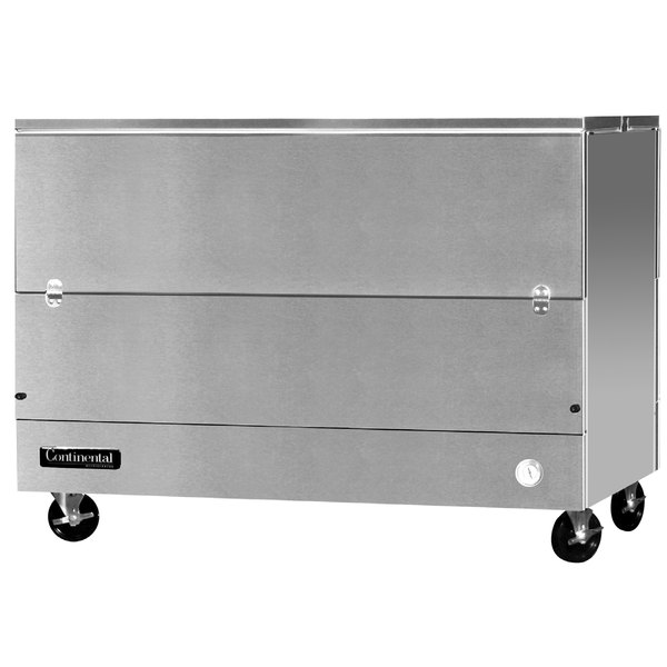 "Continental Refrigerator MC5-SS-DCW 58"" Stainless Steel 2 Sided Cold Wall Milk Cooler"