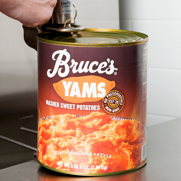 Bruce's #10 Can Mashed Sweet Potatoes - 6/Case