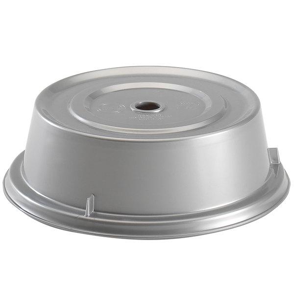 "Cambro 905CW486 Camwear Camcover 9 1/2"" Silver Metallic Plate Cover - 12/Case Main Image 1"