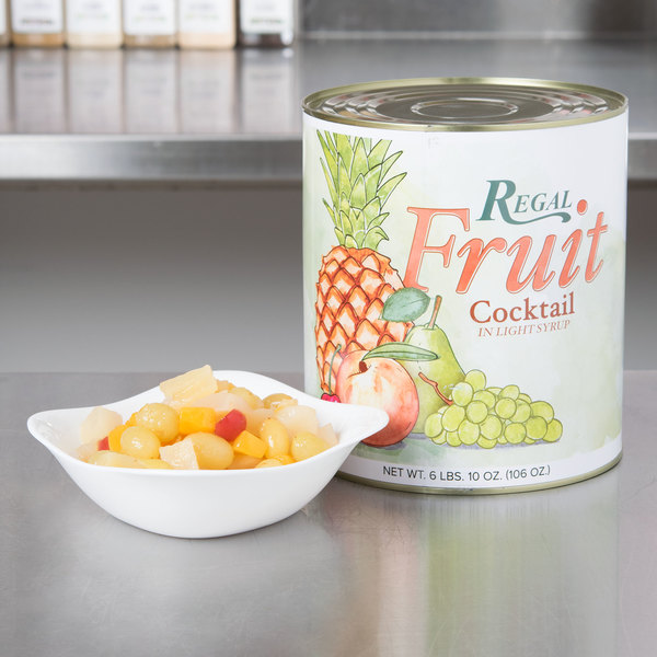 Regal Foods #10 Can Fruit Cocktail in Light Syrup - 6/Case