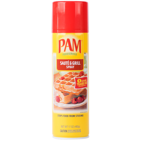 PAM 17 oz. Saute & Grill Release Spray - 6/Case