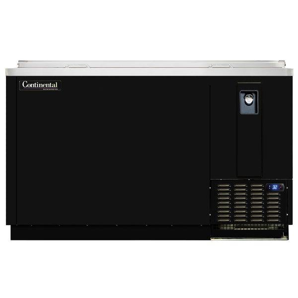 "Continental Refrigerator CBC64-DC 64"" Black Deep Chill Horizontal Bottle Cooler"