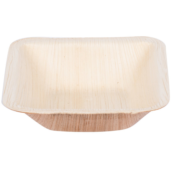 TreeVive by EcoChoice 5 oz. 4 inch Square Palm Leaf Bowl - 200/Case