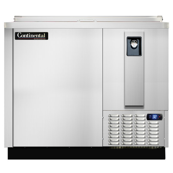 """Continental Refrigerator CBC37-SS-DC 37"""" Stainless Steel Deep Chill Horizontal Bottle Cooler"""