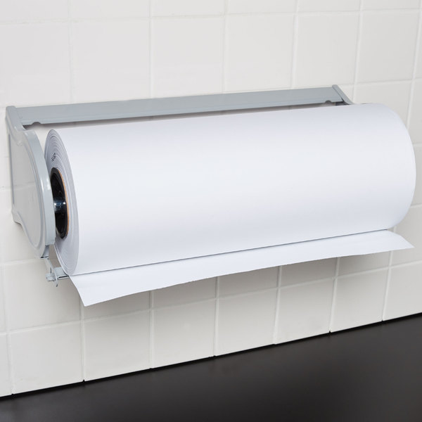 """Bulman A527-18 Deluxe 18"""" Gray Steel All-In-One Wall Mount / Undercounter Paper Dispenser / Cutter with Serrated Blade Main Image 3"""