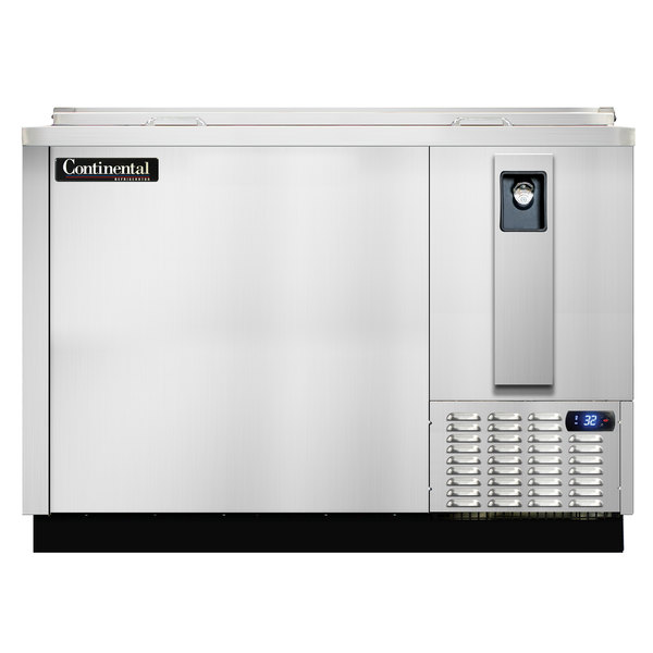 """Continental Refrigerator CBC50-SS-DC 50"""" Stainless Steel Deep Chill Horizontal Bottle Cooler"""
