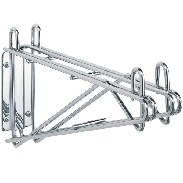 """Metro 2WD21S Super Erecta Stainless Steel Double Direct Wall Mount Bracket for Adjoining 21"""" Shelves"""