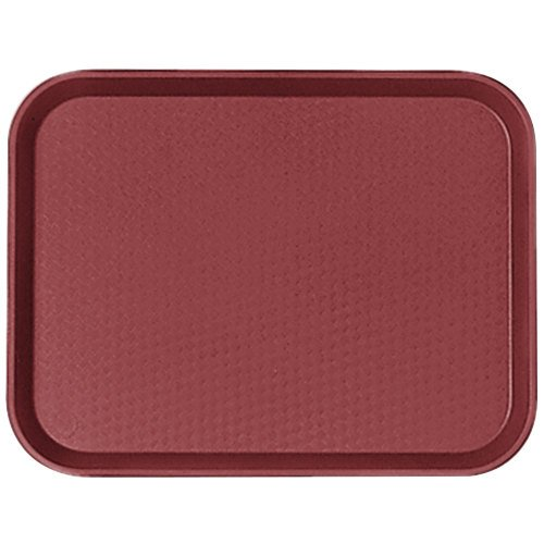 "Cambro 1014FF416 10"" x 14"" Cranberry Customizable Fast Food Tray - 24/Case"