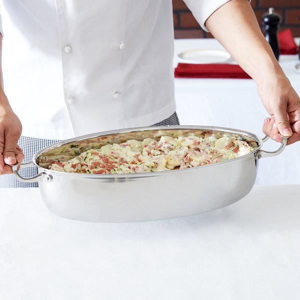 Vollrath 49445 Miramar Display Cookware 7.3 Qt. Oval Au Gratin Dish Main Image 2