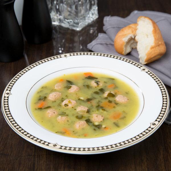 Syracuse China 911191004 Baroque 13.5 oz. Bone China Soup Bowl - 12/Case