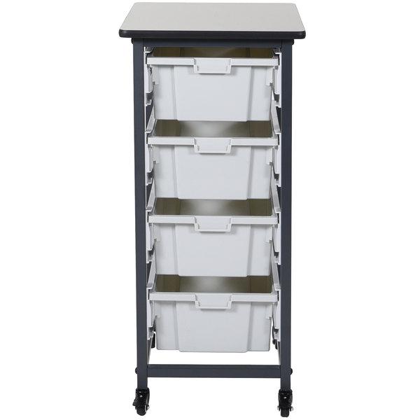 Luxor MBS-SR-4L Mobile Bin Storage Unit - 4 Large Bin Capacity
