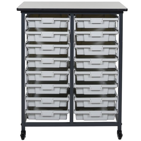 sc 1 st  WebstaurantStore & Luxor MBS-DR-16S Mobile Bin Storage Unit - 16 Small Bin Capacity