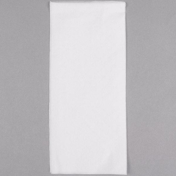 """Morcon 1517 1-Ply 15"""" x 17"""" Morsoft White Dinner Napkin - 141/Pack"""