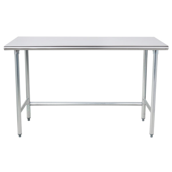 """Advance Tabco TAG-365 36"""" x 60"""" 16 Gauge Open Base Stainless Steel Commercial Work Table"""