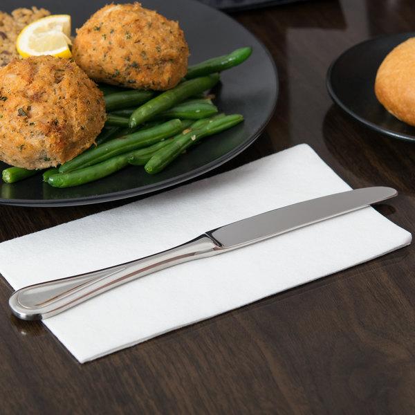"World Tableware 971 7502 Aspen 9 1/2"" 18/8 Stainless Steel Extra Heavy Weight Dinner Knife - 36/Case Main Image 5"