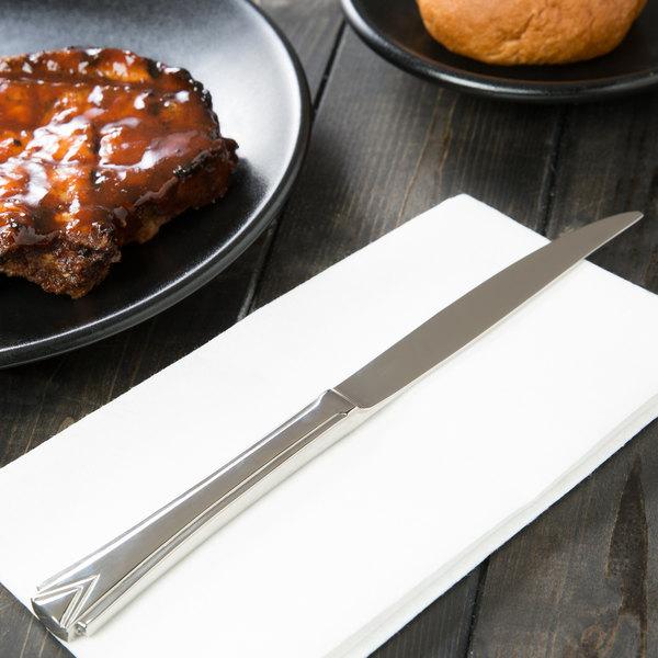 "World Tableware 985 5762 Varese 9 1/4"" 18/8 Stainless Steel Extra Heavy Weight Steak Knife - 36/Case"