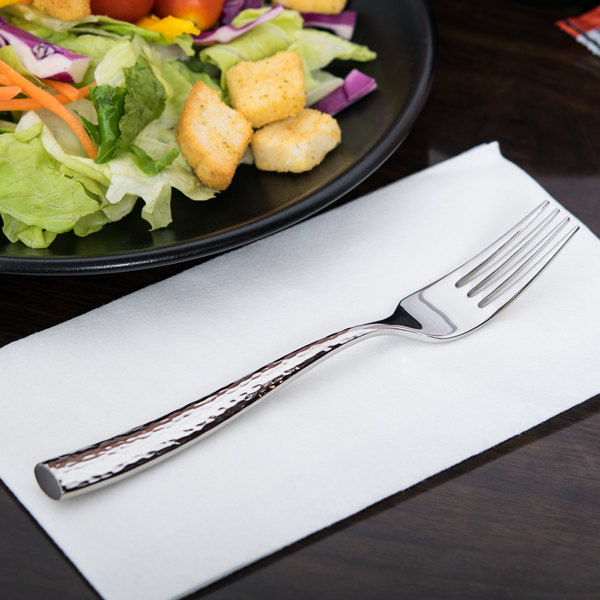 "World Tableware 931 038 Chivalry 18/8 Extra Heavy Weight Stainless Steel 7 3/8"" Dessert / Salad Fork - 12/Case Main Image 5"