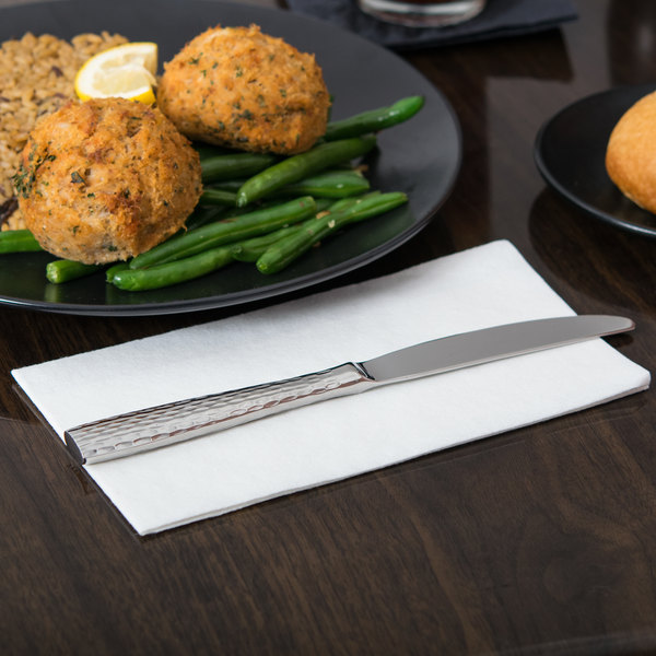 """World Tableware 931 5921 Chivalry 18/8 Extra Heavy Weight Stainless Steel 9"""" Dinner Knife - 12/Case Main Image 5"""