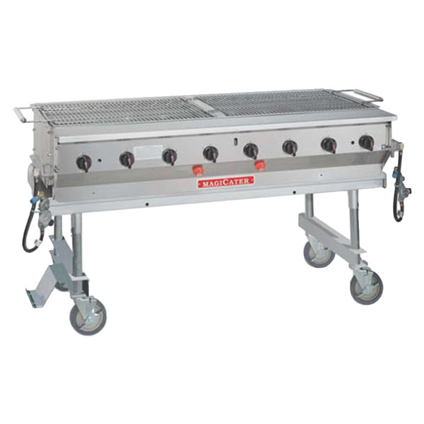 """MagiKitch'n LPAGA-60-SS Stainless Steel MagiCater 60"""" Portable Outdoor Grill"""