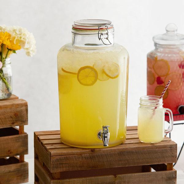 Acopa 2 Gallon Country Glass Beverage Dispenser