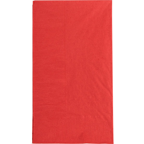Choice 15 inch x 17 inch Customizable Red 2-Ply Paper Dinner Napkin - 1000/Case