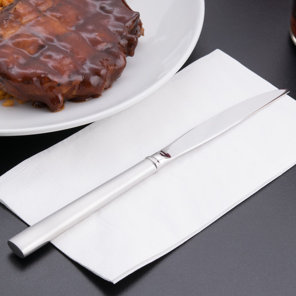 "World Tableware 992 5762 Cimarron 18/8 Extra Heavy Weight Stainless Steel 8 7/8"" Steak Knife - 36/Case"