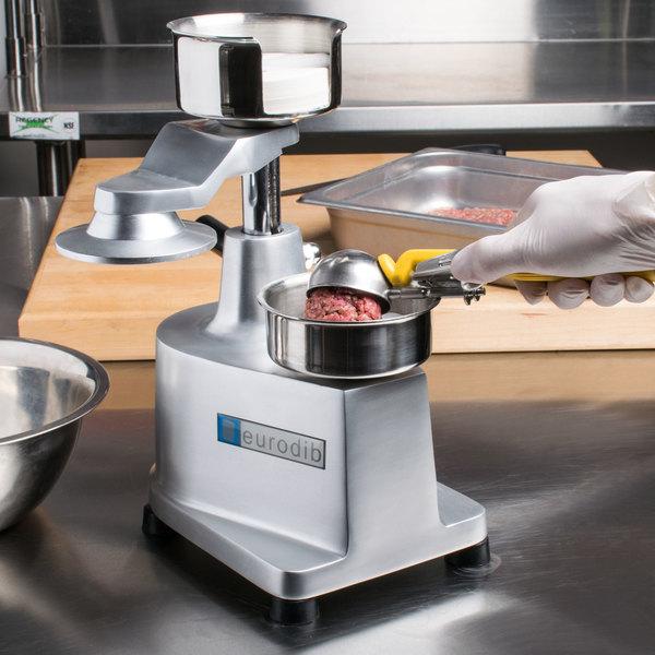 Eurodib HF100 Manual 1/4 lb. Hamburger Patty Molding Press with Single-Level Press Handle Main Image 15