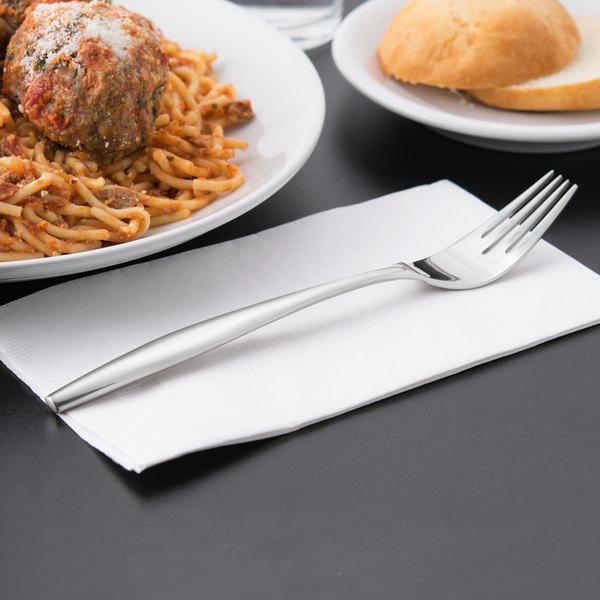 """World Tableware 937 027 Slenda 8 1/4"""" 18/8 Stainless Steel Extra Heavy Weight Dinner Fork - 36/Case"""