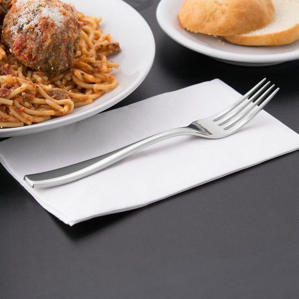 "World Tableware 929 027 Quartet 8 1/8"" 18/8 Stainless Steel Extra Heavy Weight Dinner Fork - 12/Case"