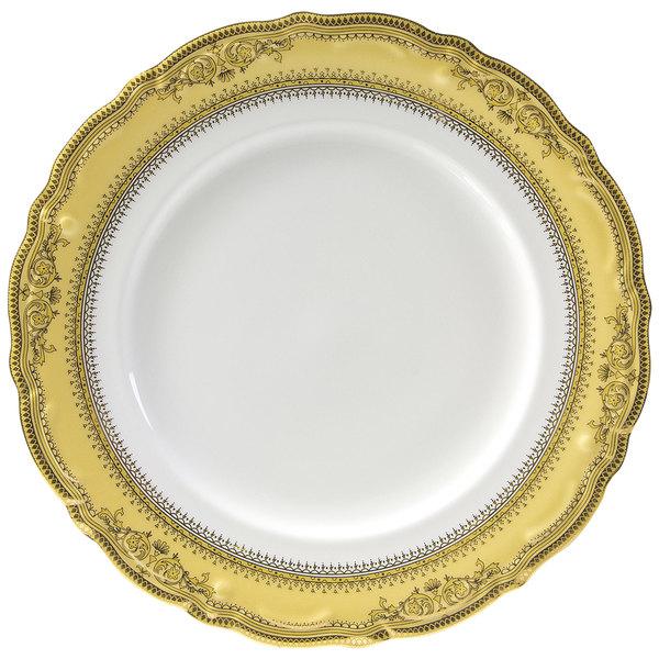 "10 Strawberry Street VAN-2G Vanessa 9"" Gold Luncheon Plate - 24/Case"
