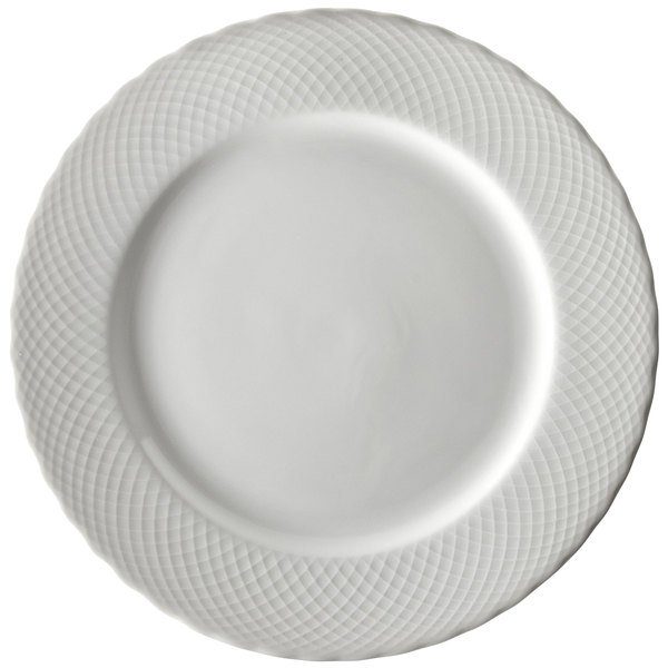 10 Strawberry Street WW0001 White Wicker 10 3/8  Porcelain Dinner Plate - 24/Case  sc 1 st  WebstaurantStore & 10 Strawberry Street WW0001 White Wicker 10 3/8