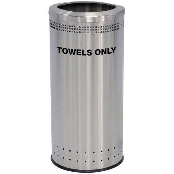 Commercial Zone 78282999 25 Gallon Precision Stainless Steel Towel Receptacle