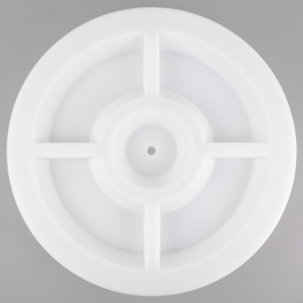 """Commercial Zone 740106 22"""" White Planter Dish"""