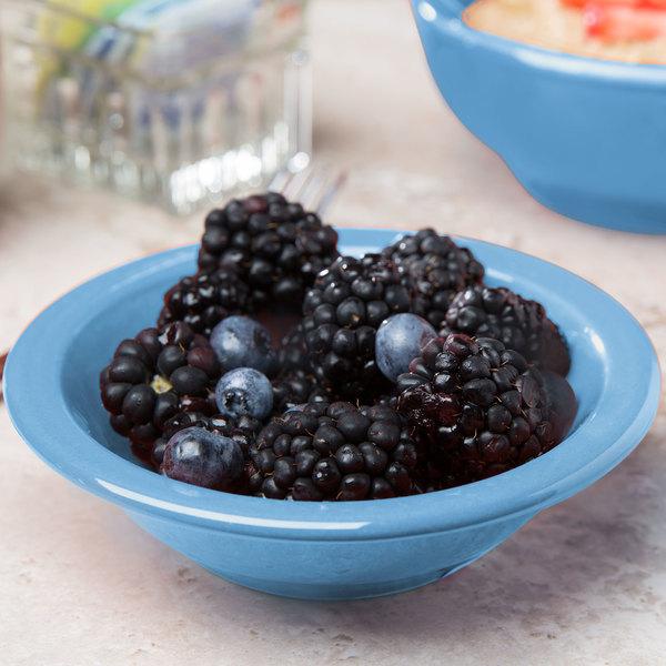 Syracuse China 903043012 Cantina 5 oz. Blueberry Uncarved Porcelain Fruit Bowl - 36/Case