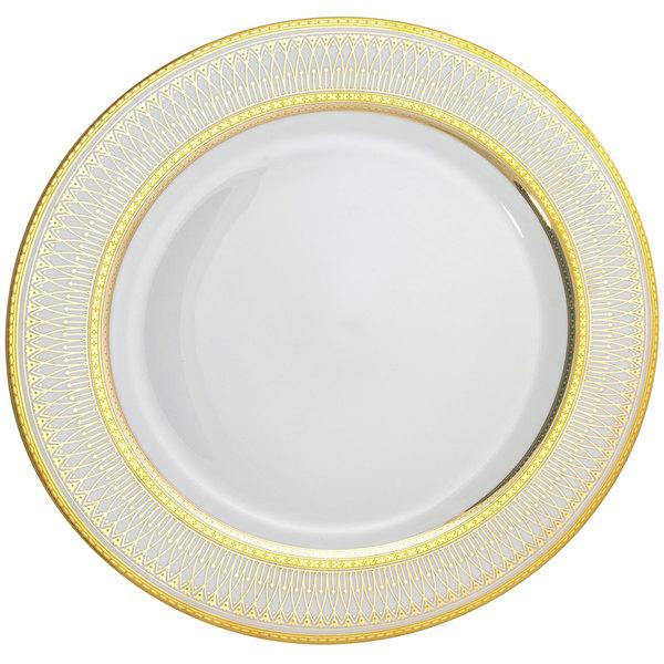 "10 Strawberry Street IRIANA-4GLD Iriana 7 1/2"" Gold Salad / Dessert Plate - 24/Case"