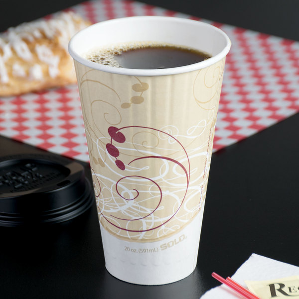 Dart Solo IC20-J8000 Duo Shield Symphony 20 oz. Poly Paper Hot Cup - 350/Case