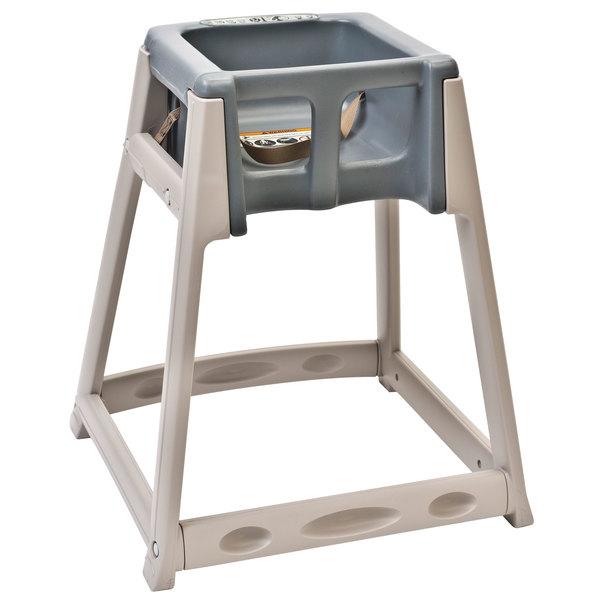 Koala Kare KB888-01 KidSitter Beige Assembled Convertible Plastic High Chair with Grey Seat
