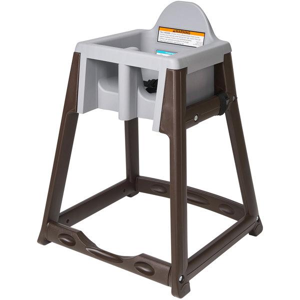 Koala Kare KB966-01 KidSitter Brown Assembled Convertible Plastic High Chair with Grey Seat