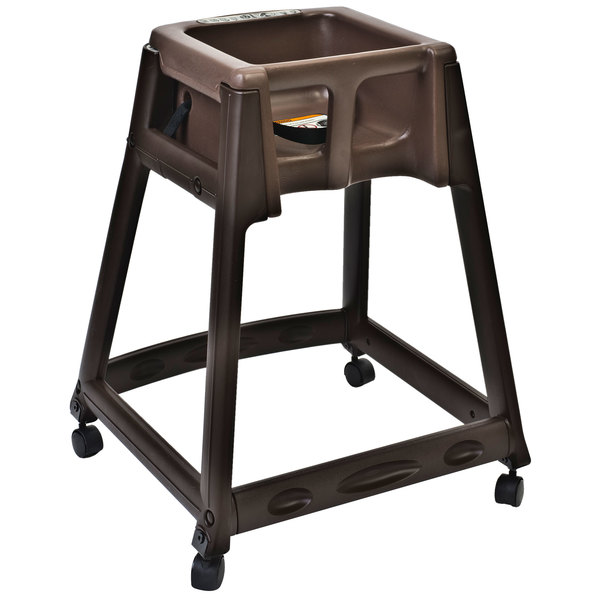 Koala Kare KB866-09W KidSitter Brown Assembled Convertible Plastic High Chair with Brown Seat and Casters