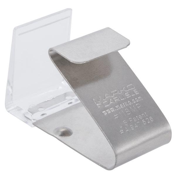 Marko 5CC118MP-12 Standard Metal Hook and Loop Tape Skirting Clip - 12/Pack Main Image 1
