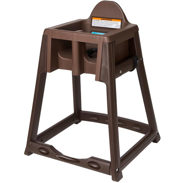 Koala Kare KB966-09 KidSitter Assembled Brown Convertible Plastic High Chair with Brown Seat