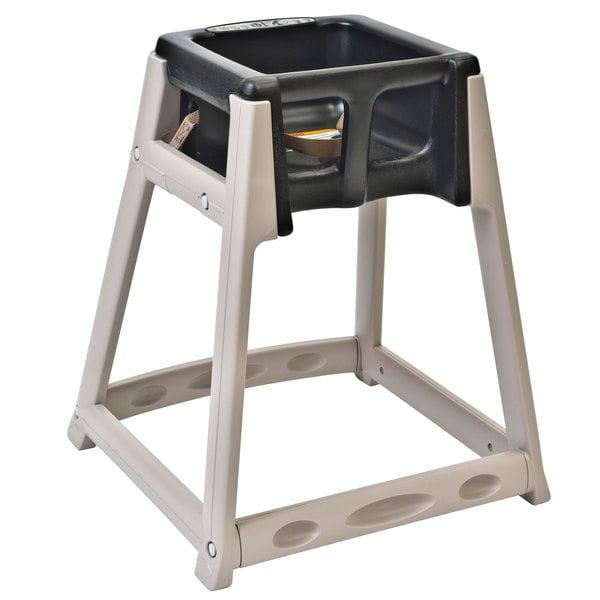 Koala Kare KB888-02 KidSitter Beige Assembled Convertible Plastic High Chair with Black Seat