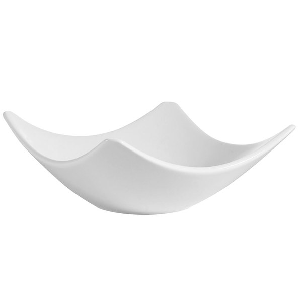 CAC SHA-H5 Bone White Porcelain Square Dish - 36/Case