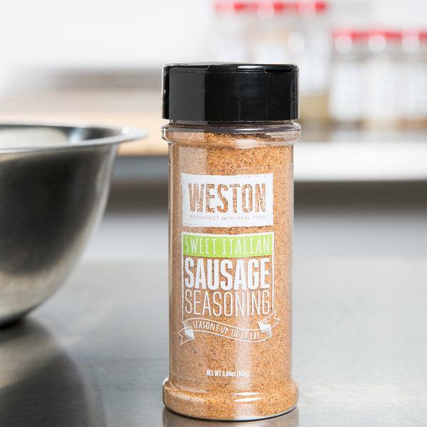 Weston 02-0016-W 5.04 oz. Sweet Italian Sausage Dry Seasoning Main Image 3
