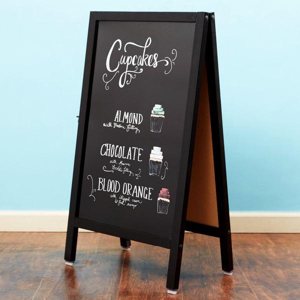 """Choice A-Frame Marker Board Sidewalk Sign - Black Wood - 20"""" x 34"""""""