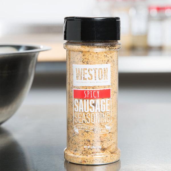 Weston 02-0014-W 3.88 oz. Spicy Sausage Dry Seasoning