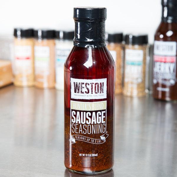 Weston 02-0033-W 12 oz. Hunter's Blend Liquid Sausage Seasoning