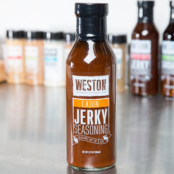 Weston 02-0022-W 12 oz. Cajun Liquid Jerky Seasoning