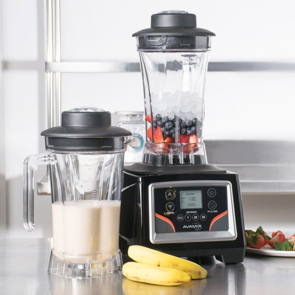 Avamix BX2100E 3 1/2 hp Commercial Blender with Touchpad Control, Adjustable Speed, and Two 64 oz. Polycarbonate Containers